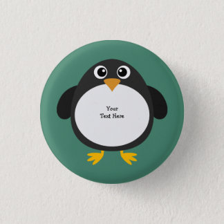 Badge Pingouin potelé (personnalisable)