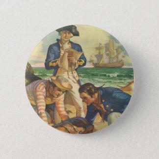 Badge Pirates vintages de conte de fées, île de trésor