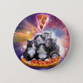 Badge Pizza d'Illuminatis - chat de pizza - séance de