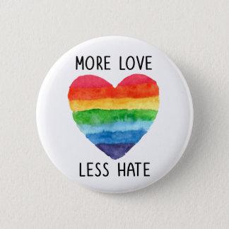 Badge Plus d'amour moins de bouton de haine