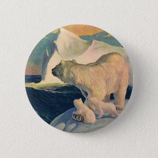 Badge Polaire vintage concerne l'iceberg, animal