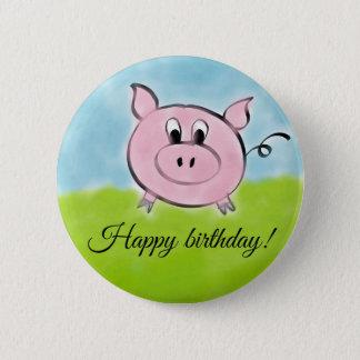Badge Porc de joyeux anniversaire