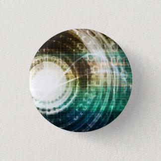 Badge Portail futuriste de technologie avec Digitals
