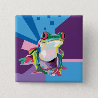 Badge Portrait coloré de grenouille d'arbre