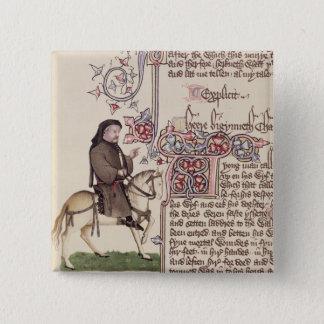 Badge Portrait de télécopie de Geoffrey Chaucer de