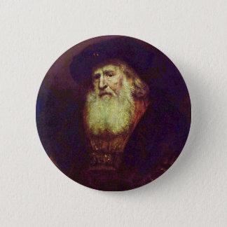 Badge Portrait d'un vieil homme barbu par Rembrandt