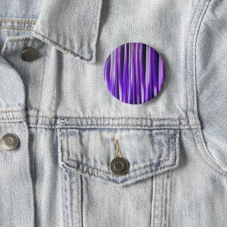 Badge Pourpre royal, lilas et motif rayé argenté