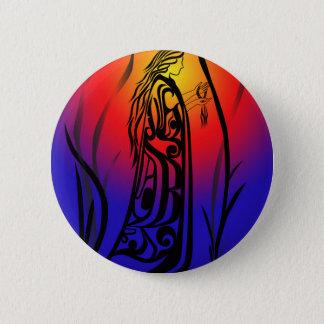 Badge Prières de lever de soleil de femme de médecine