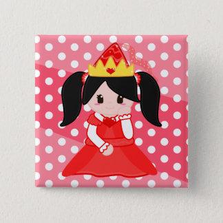 Badge Princesse rouge Button
