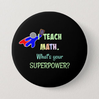 Badge Professeur de maths, super héros