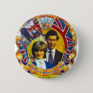 Badge Punk vintage 80' Charles et Di les épousant sroyal