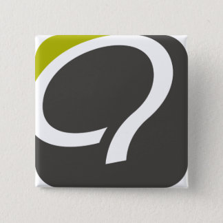 Badge Q- bouton - chartreuse