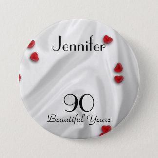 Badge quatre-vingt-dixième Bouton d'anniversaire/Pin,