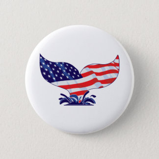 Badge Queue patriotique de baleine