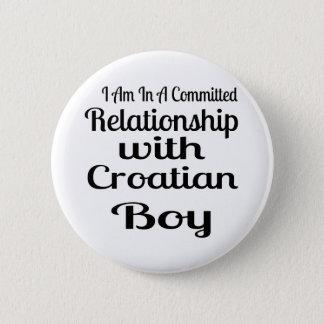 Badge Rapport avec le garçon croate