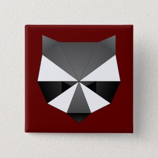 Badge Raton laveur polygonal