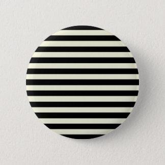 Badge Rayures horizontales élégantes beiges et noires