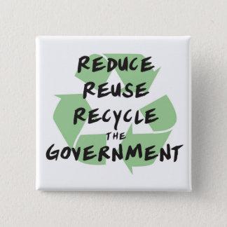 Badge réduisez le bouton de gouvernement
