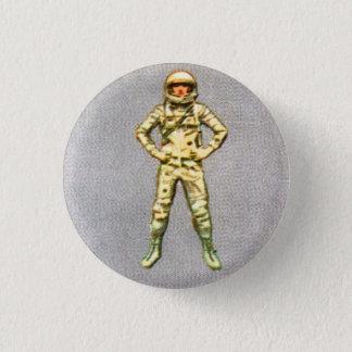Badge Rétro astronaute vintage de l'espace du kitsch 60s