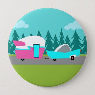 Badge Rétro bouton de campeur/remorque et de voiture