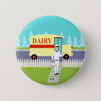 Badge Rétro bouton de laitier de petite ville