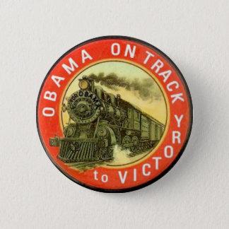 Badge Rétro bouton de train d'Obama