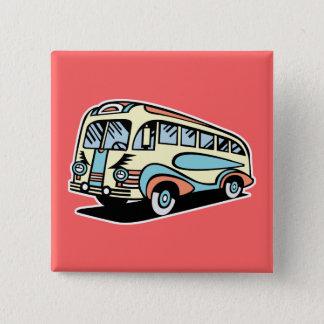 Badge rétro car d'autobus