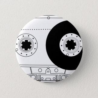 Badge rétro cassette vintage graphique de T-shirt de