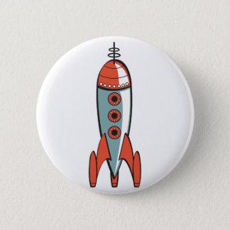 Badge rétro fusée d'espace