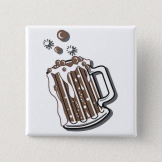 Badge rétro graphique de bière de racine de style