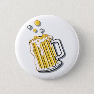 Badge rétro graphique de bière de style