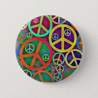 Badge Rétro paix de cru de mod