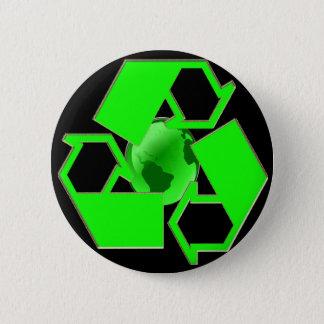 Badge Réutilisez la terre 2 - sauvez le devenez écolo de