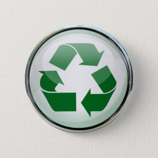 Badge Réutilisez le logo en verre et chrome