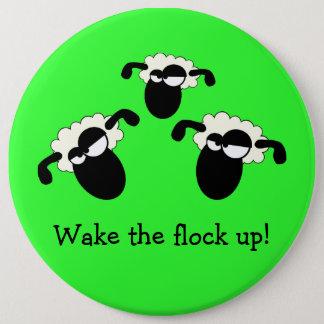 """Badge """"Réveillez le troupeau !"""" Bouton"""