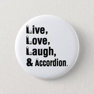 Badge Rire vivant et accordéon d'amour