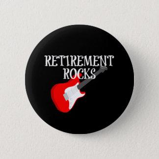 Badge Roches de retraite, conception graphique avec la