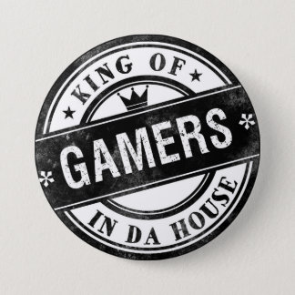 Badge Roi de bouton drôle de Gamers pour les ballots et