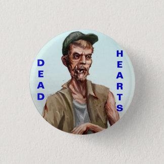Badge Roman mort de coeurs - bouton de zombi