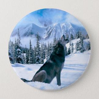 Badge Rond 10 Cm Appel de loup