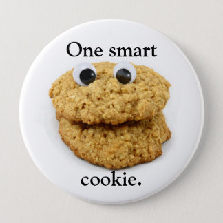 Badge Rond 10 Cm Bouton intelligent de biscuit