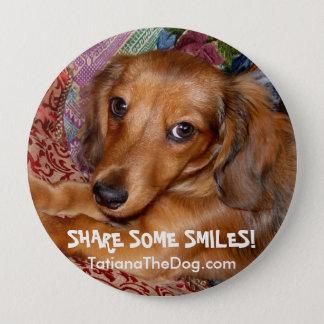 """Badge Rond 10 Cm ~ de bouton """"partagez quelques sourires"""" par"""