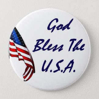 Badge Rond 10 Cm Drapeau américain