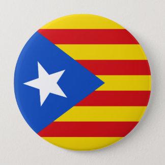 Badge Rond 10 Cm Drapeau de la Catalogne