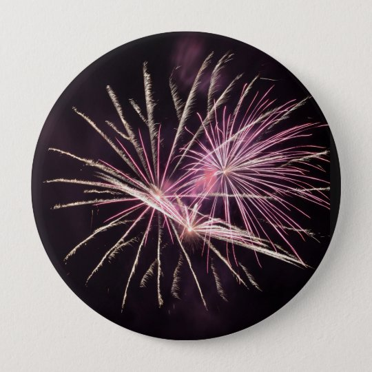 Badge Rond 10 Cm Fireworks on the heart