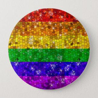 Badge Rond 10 Cm Gay pride d'égalité de mariage de drapeau