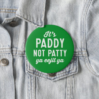 Badge Rond 10 Cm Goupille du jour de St Patrick