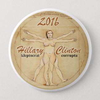 Badge Rond 10 Cm Hillary Clinton : corrupta de kleptocrat