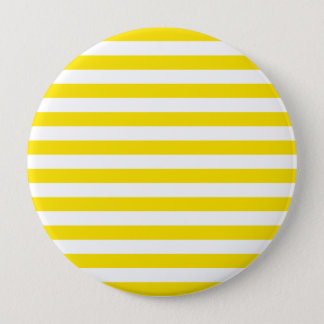 Badge Rond 10 Cm Rayures jaunes horizontales