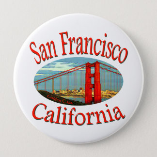 Badge Rond 10 Cm San Francisco la Californie